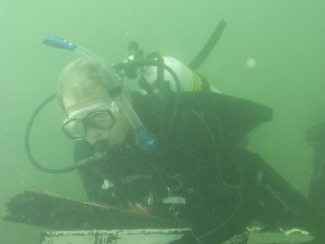 Tony Cook underwater - he's a PADI Master Instructor