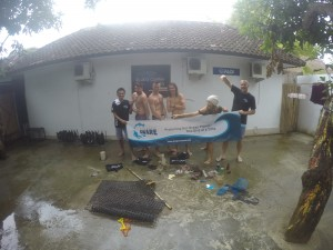 The rubbish collected during the clean up dive by the team!