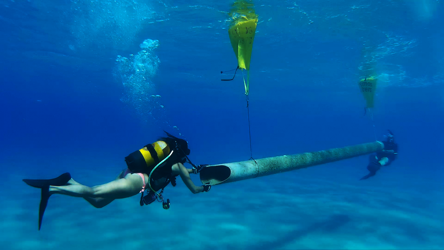 Pipes removed by Scuba Divers  - Project AWARE