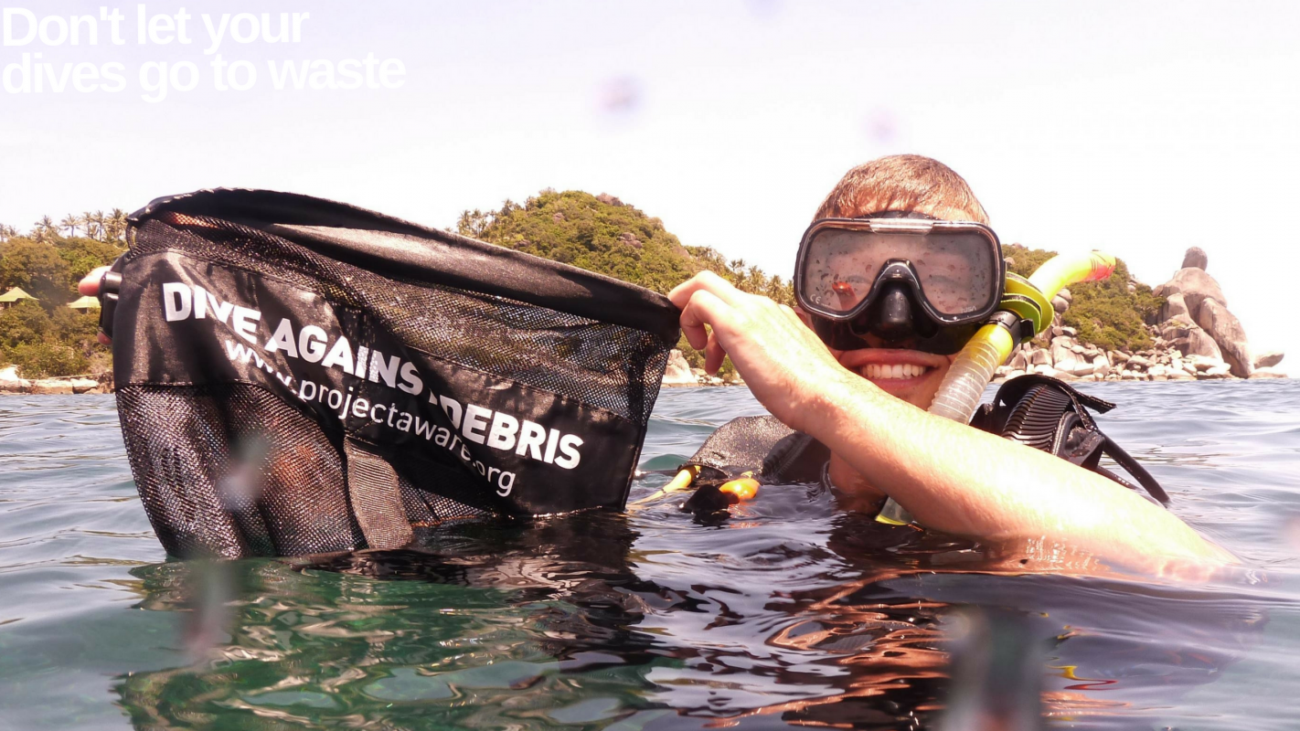 One Million Less Items of Trash in our Ocean; Project AWARE, Dive Against Debris