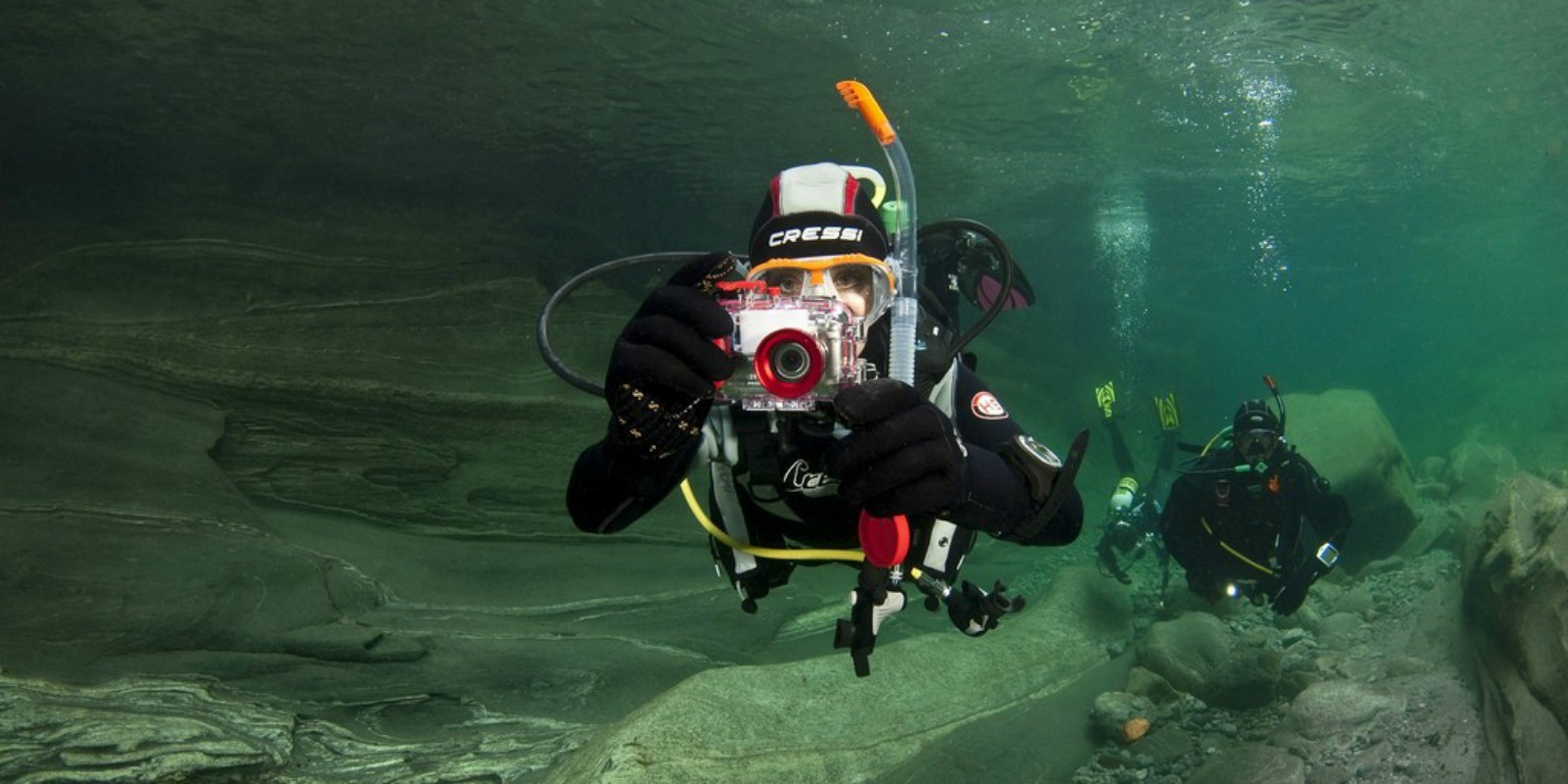 image of underwater photographer
