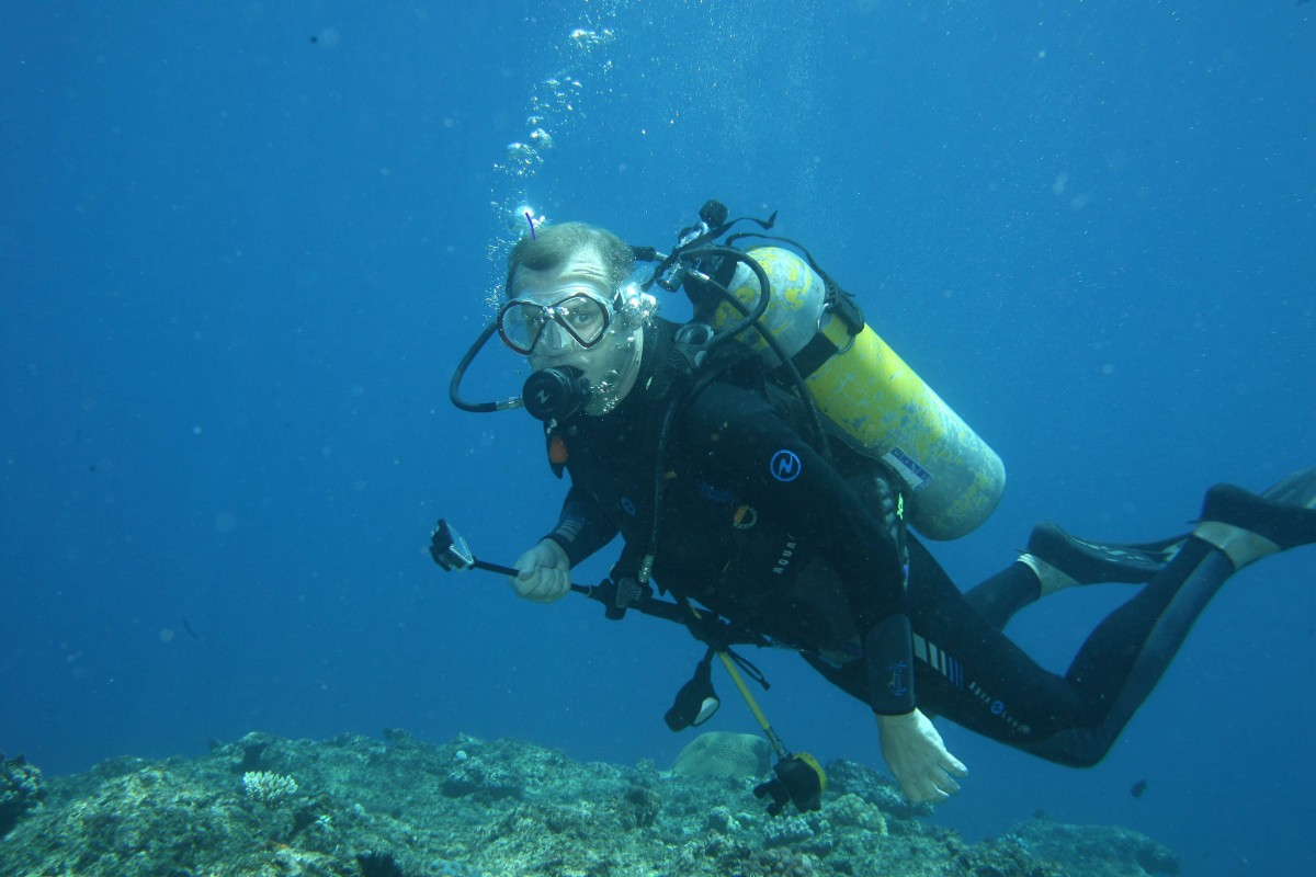 image of Ian Campbell scuba diving