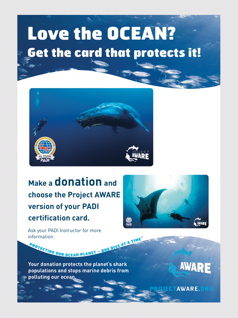 Get A Project Aware Certification Card For Every Padi Course