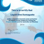100% AWARE Liquid certificate