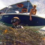 Guests, GoPRO Interns Join Forces in Net Removal with Downbelow Team