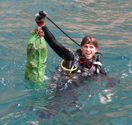 Dive Against Debris at Surface